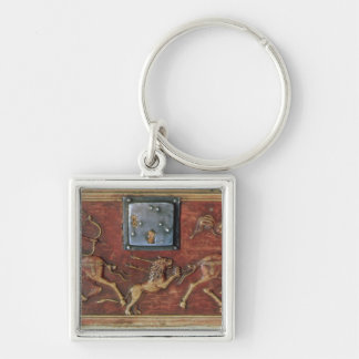 Lion Hunt, plaque from a Byzantine casket, 11th ce Key Ring