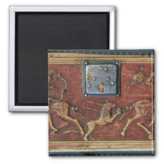 Lion Hunt, plaque from a Byzantine casket, 11th ce Magnet
