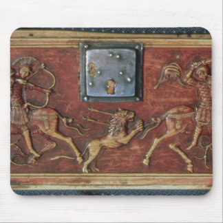 Lion Hunt, plaque from a Byzantine casket, 11th ce Mouse Mat