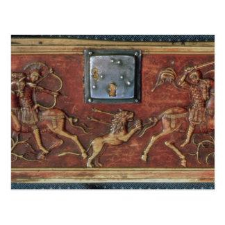 Lion Hunt, plaque from a Byzantine casket, 11th ce Postcard