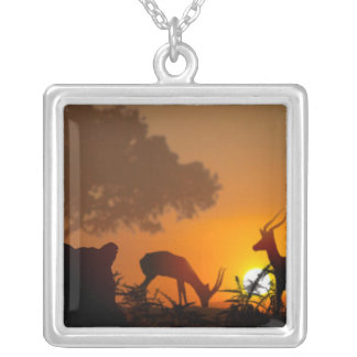 Lion Hunt Silver Plated Necklace