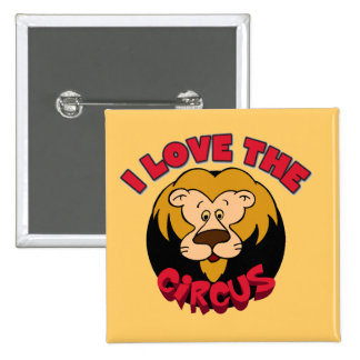 Lion I Love the Circus Tshirts and Gifts 15 Cm Square Badge