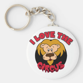 Lion I Love the Circus Tshirts and Gifts Basic Round Button Key Ring