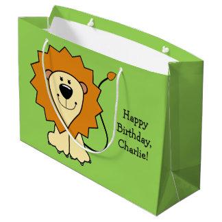 Lion illustration custom text gift bag