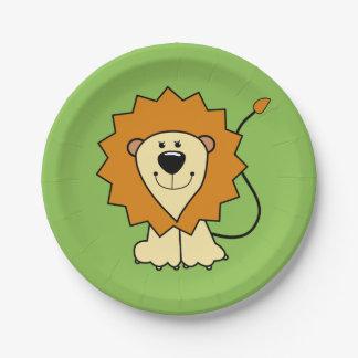 Lion illustration kids' paper plates