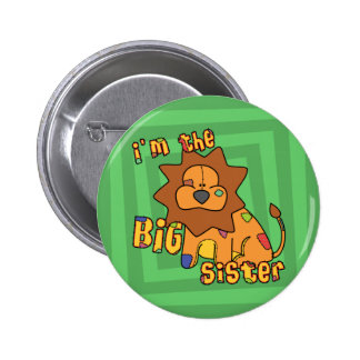 Lion I'm the Big Sister 6 Cm Round Badge