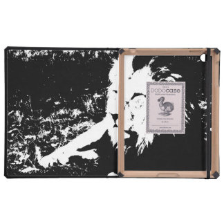 Lion in Black and White iPad Folio Case