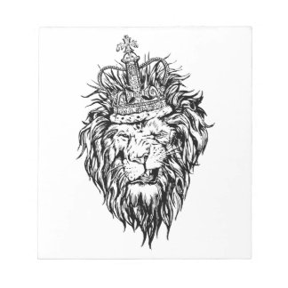 Lion in crown notepad