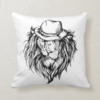 Lion in hat, lion tail cushion