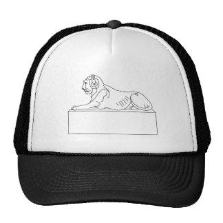 lion in headphones hat