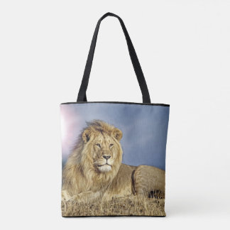 Lion in Safari tote