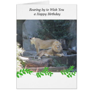 Lion in the Den Birthday Greeting Greeting Card