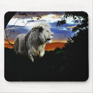 Lion in the jungle mouse pad