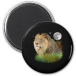 Lion in the Jungle Refrigerator Magnet