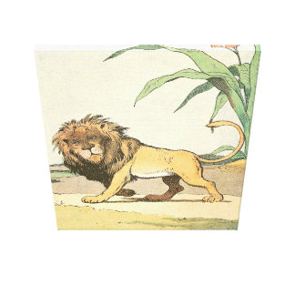 Lion in the Jungle Story Book Gallery Wrap Canvas