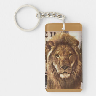 lion in town Double-Sided rectangular acrylic key ring