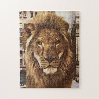 lion in town jigsaw puzzle