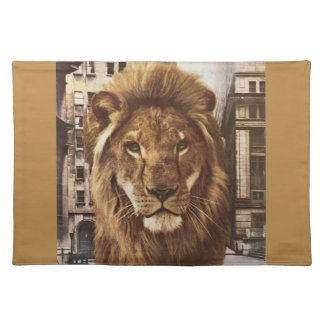 lion in town place mat