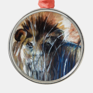 Lion in wait christmas ornament