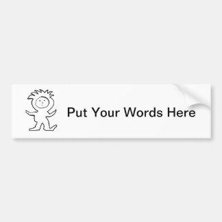 Lion Jammies Kid Bumper Sticker