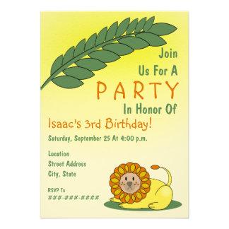 Lion Jungle Birthday Party Invitation