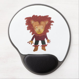 Lion Jungle Friends Baby Animal Water Color Gel Mouse Pad