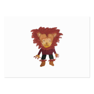Lion Jungle Friends Baby Animal Water Color Pack Of Chubby Business Cards