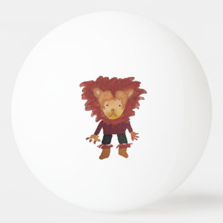Lion Jungle Friends Baby Animal Water Color Ping Pong Ball