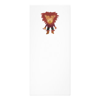 Lion Jungle Friends Baby Animal Water Color Rack Card Template