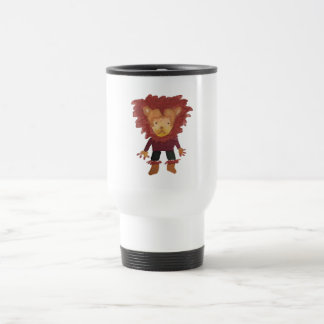 Lion Jungle Friends Baby Animal Water Color Stainless Steel Travel Mug