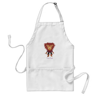 Lion Jungle Friends Baby Animal Water Color Standard Apron