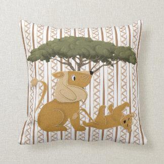 Lion Jungle Safari Throw Cushion