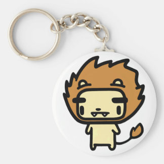Lion Basic Round Button Key Ring