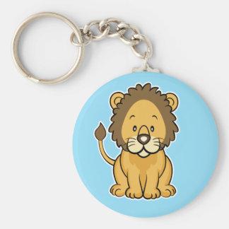 Lion keychain blue