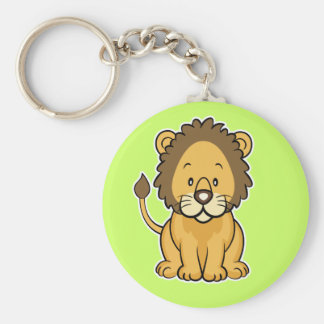 Lion keychain green