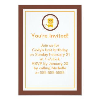 Lion Kids Party Invitation
