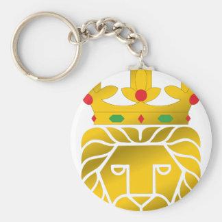 lion king basic round button key ring