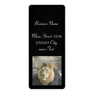 lion king 10 cm x 24 cm invitation card