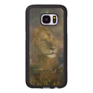 Lion King of Jungle Beasts Wood Samsung Galaxy S7 Case