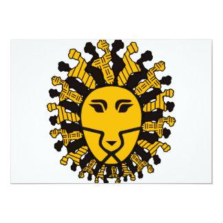 Lion King of Malawi 13 Cm X 18 Cm Invitation Card