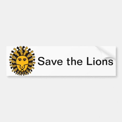 Lion King of Malawi Bumper Stickers