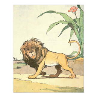 Lion King of the Jungle Illustrated Photo Print