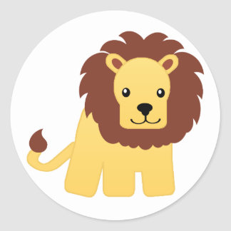 Lion - King of the Jungle Round Sticker