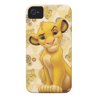 Lion King | Simba on Triangle Pattern Case-Mate iPhone 4 Cases