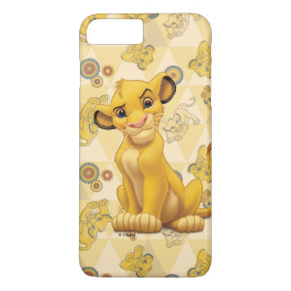 Lion King | Simba on Triangle Pattern iPhone 8 Plus/7 Plus Case