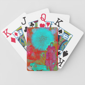 lion-lady bicycle playing cards
