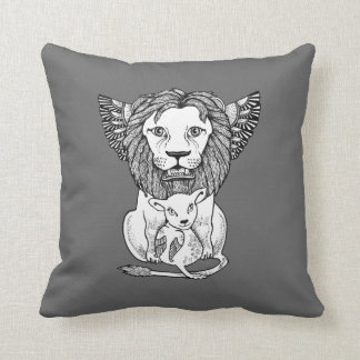 Lion & Lamb Decorative Throw Pillow Throw Cushions