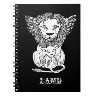 Lion & Lamb Notepad Note Book