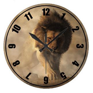 Lion Large Clock