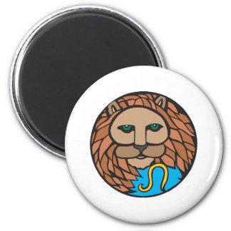 lion leo symbol magnet